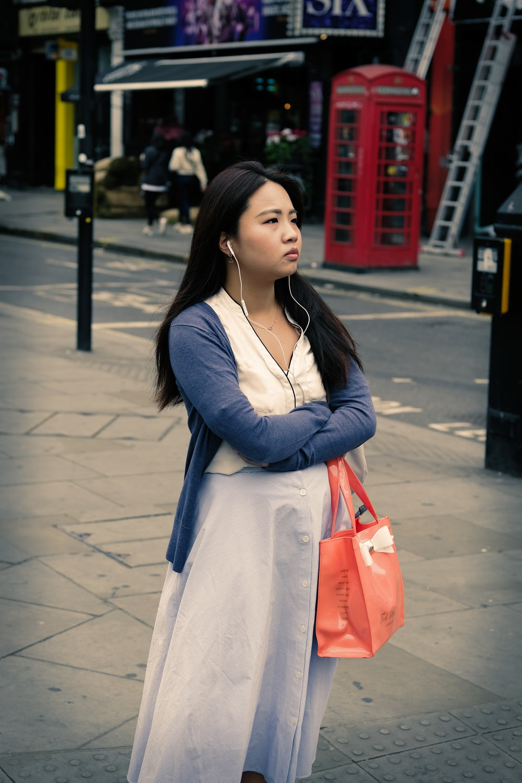 woman standing in open area