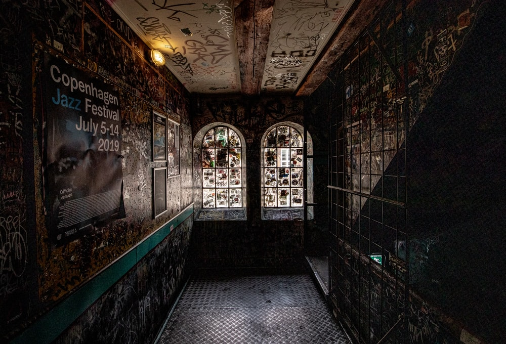 black and brown hallway