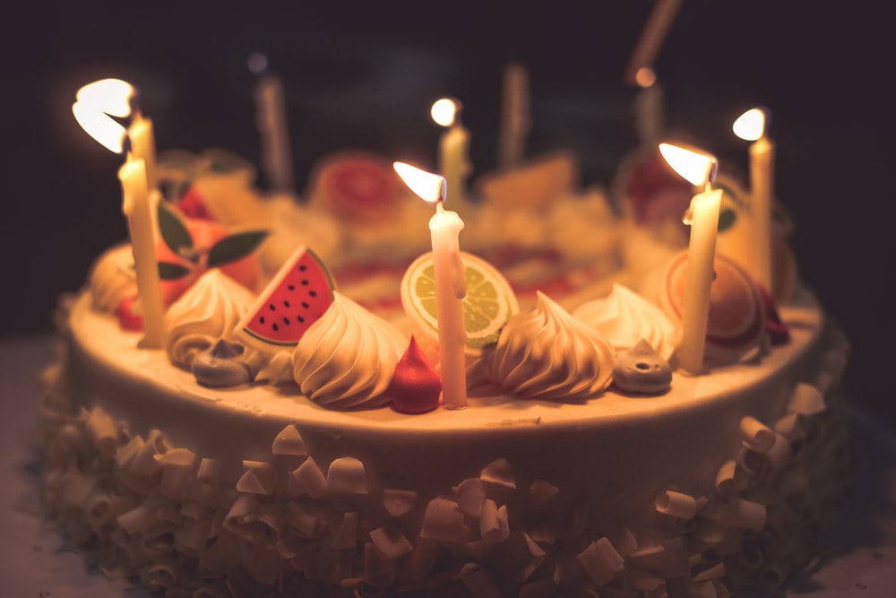 Enjoyable Birthday Cake Candles Pictures Download Free Images On Unsplash Birthday Cards Printable Trancafe Filternl