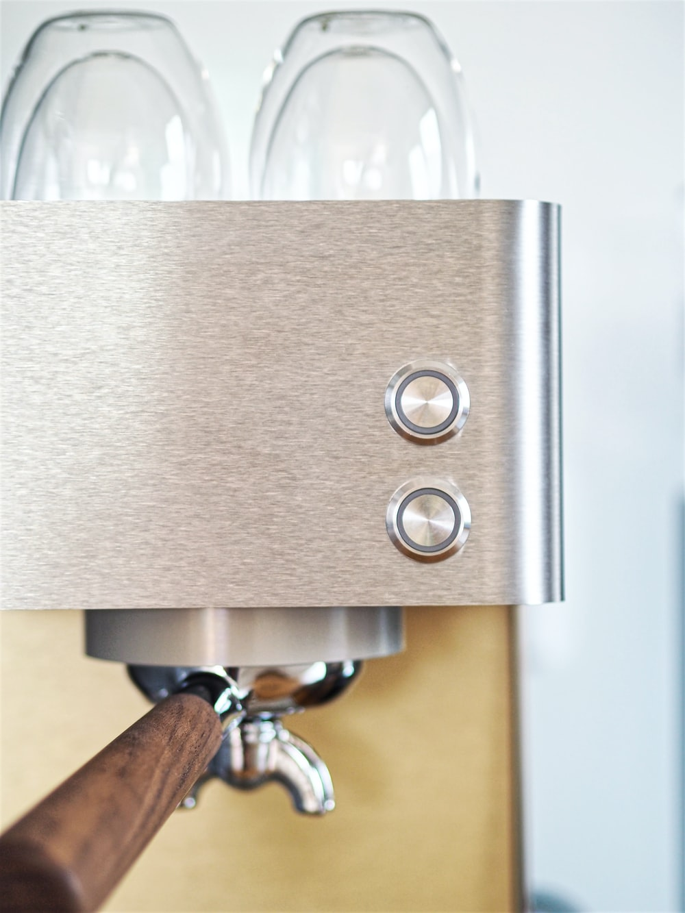 gray espresso maker
