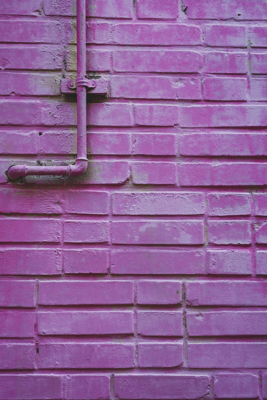 purple concrete wall