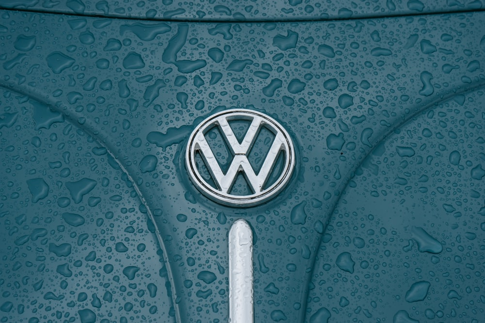 teal Volkswagen vehicle