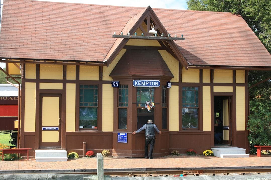 Train Station Kempton, Pennsylvania Halloween Style