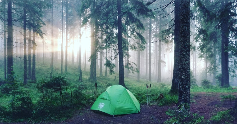 green dome tent