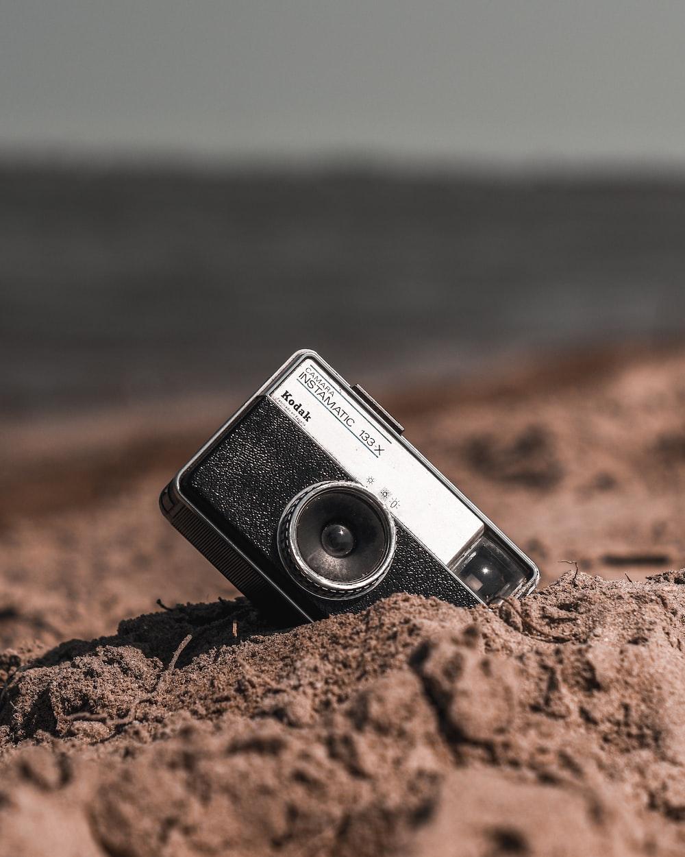 black compact camera