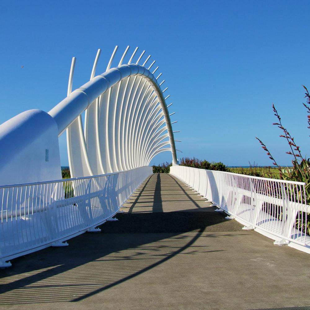 white metal fence