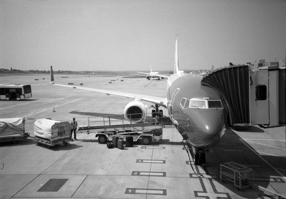 airliner at the airport