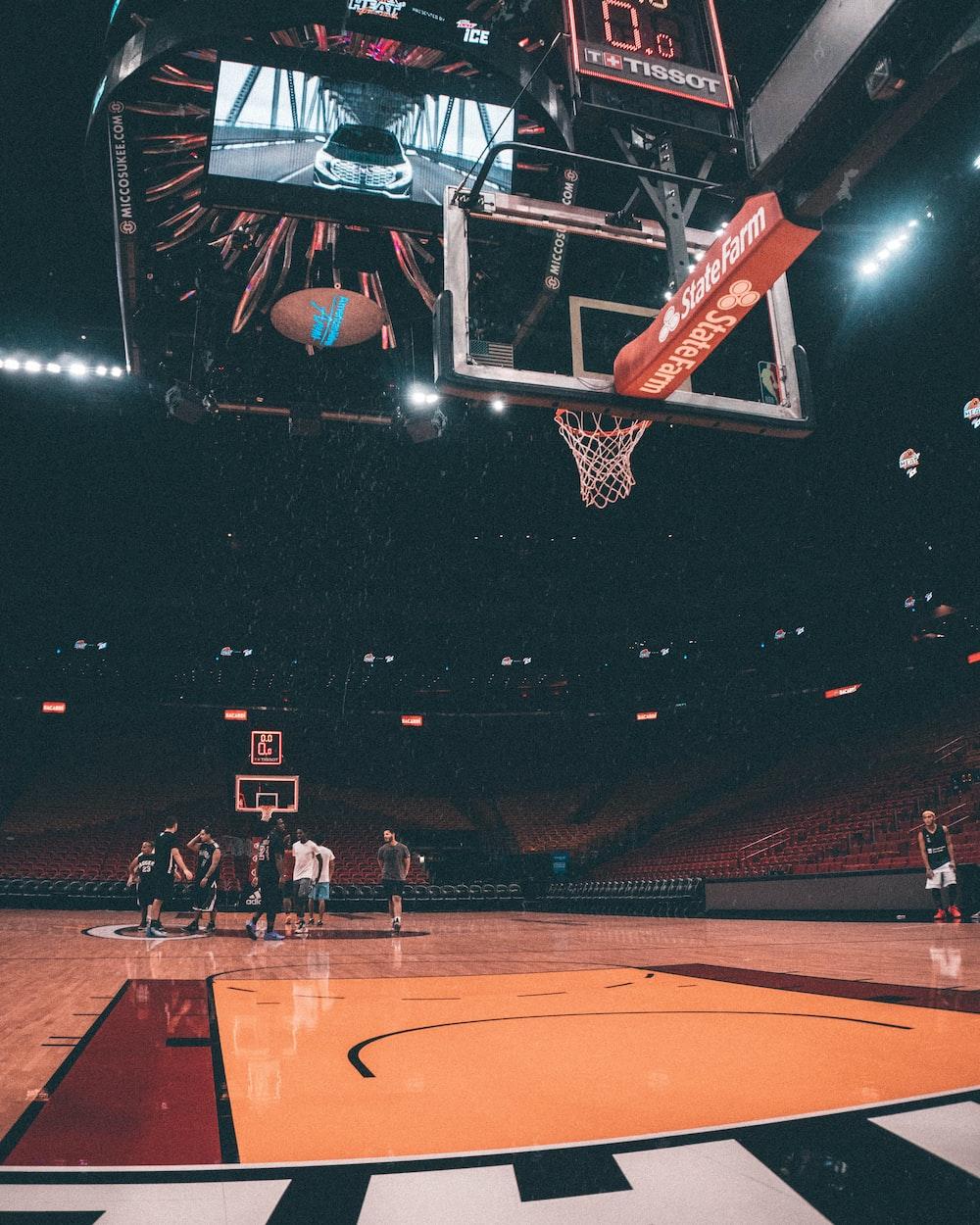players inside basketball court