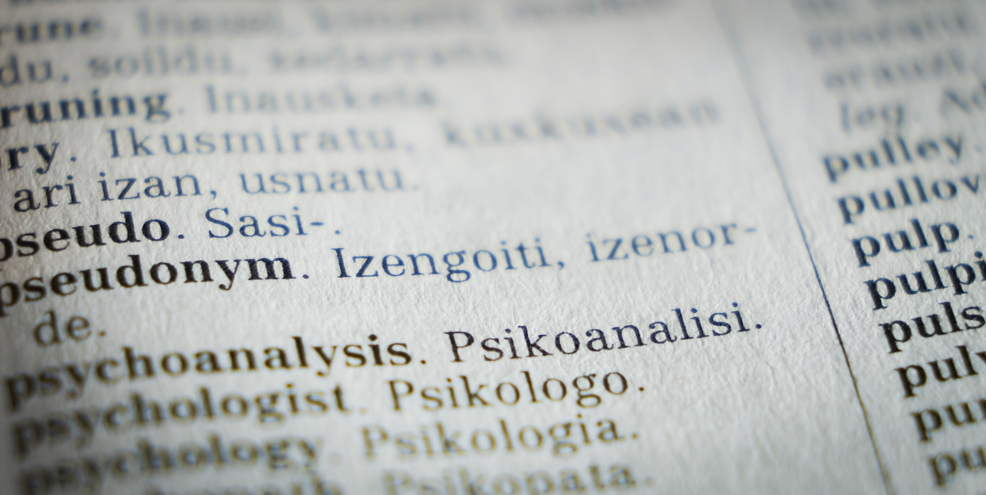 words in foreign language