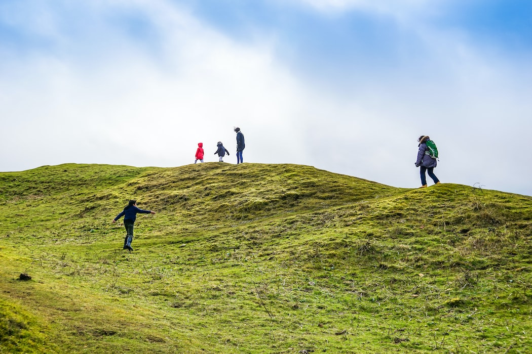 A group of people hiking