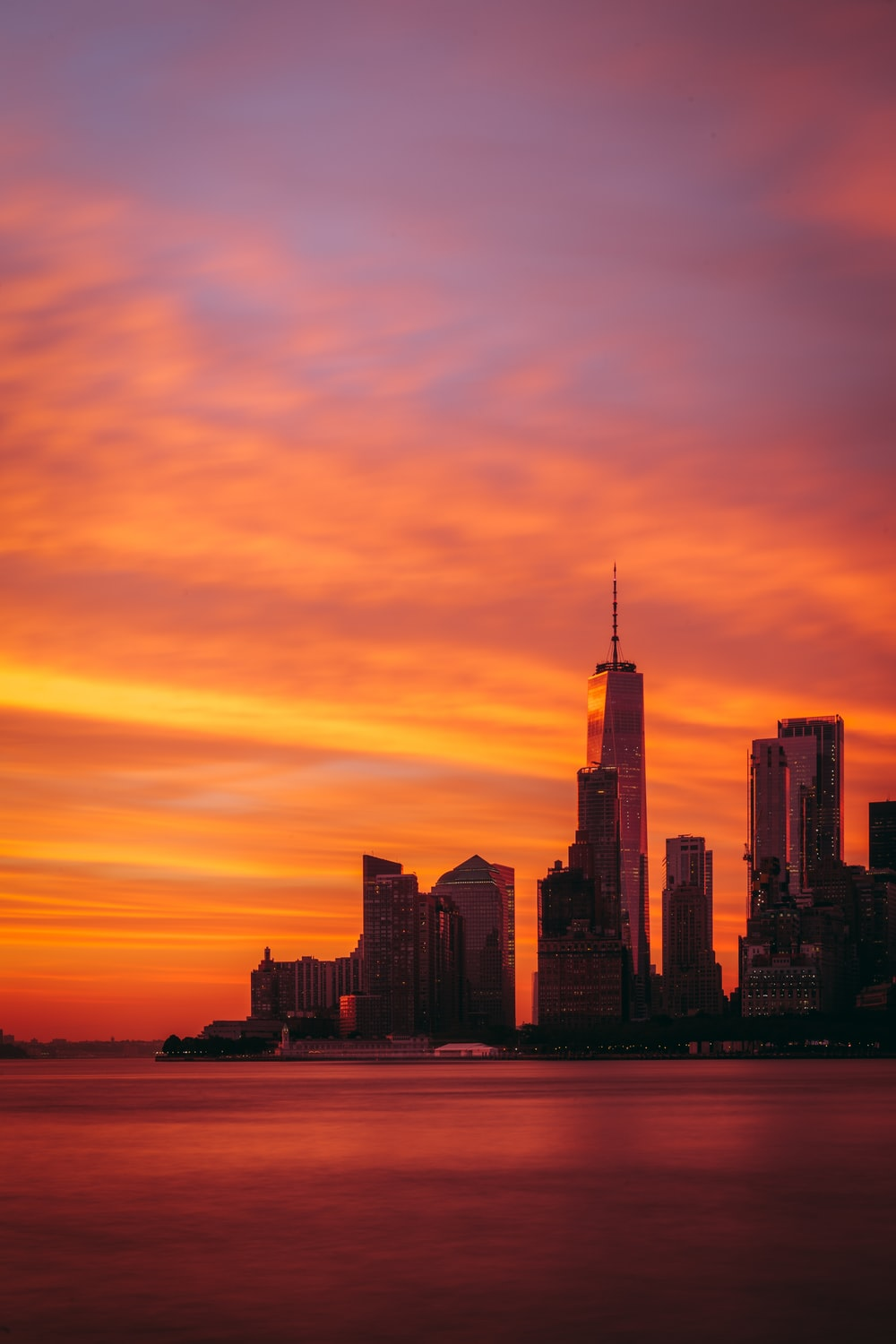 panoramic photography of sunset at the city