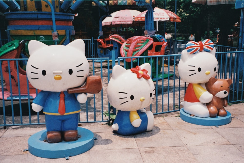 Hello Kitty statues