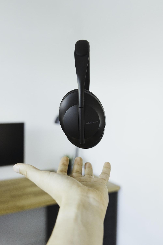 black Bose headphone