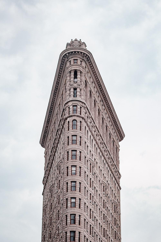 brown flat concrete building