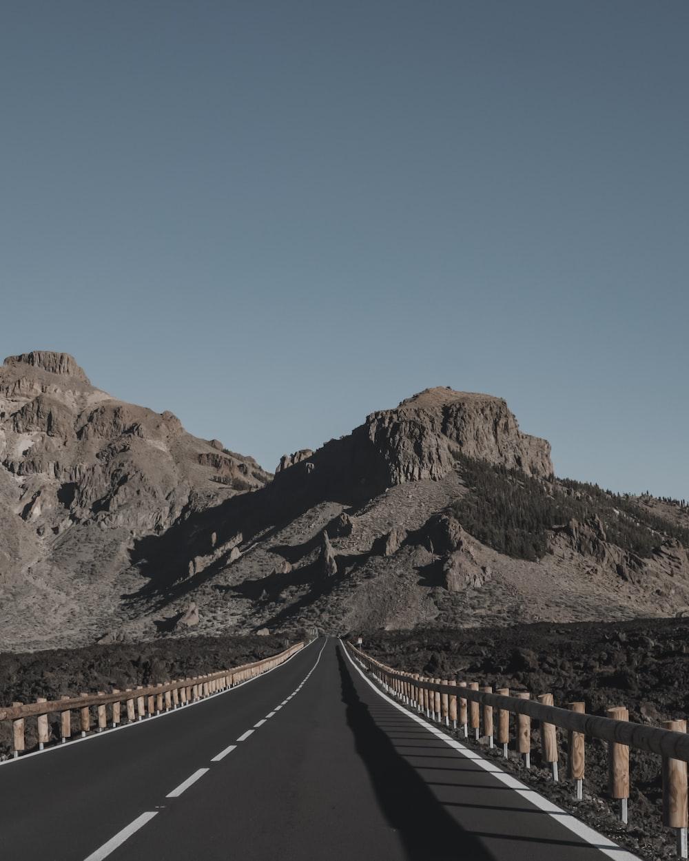 road towards mountain