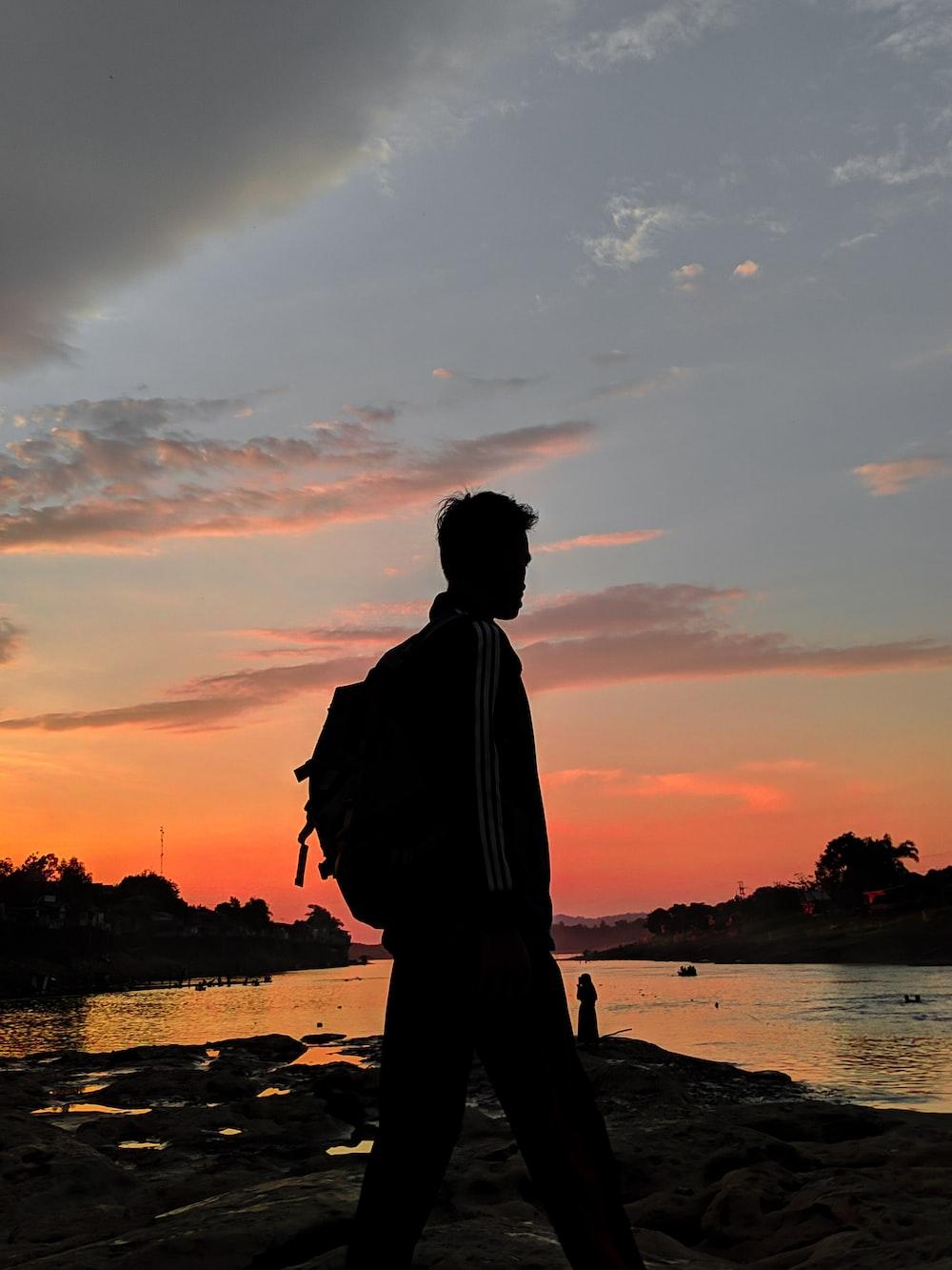 man near shore