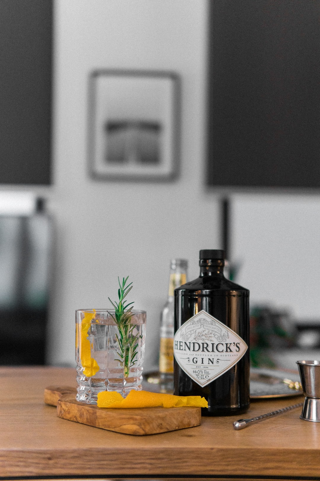 Hendrick's Gin and Fever-Tree Tonic Water with Rosemary