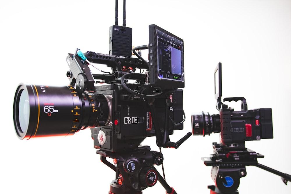 two black video cameras