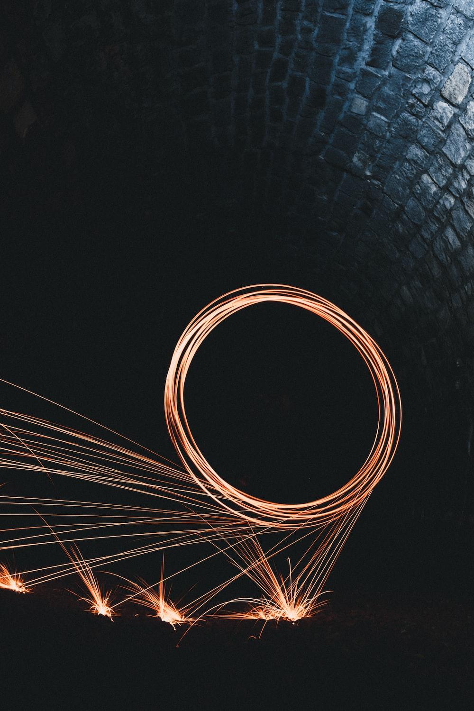 steel wool photography inside tunnel