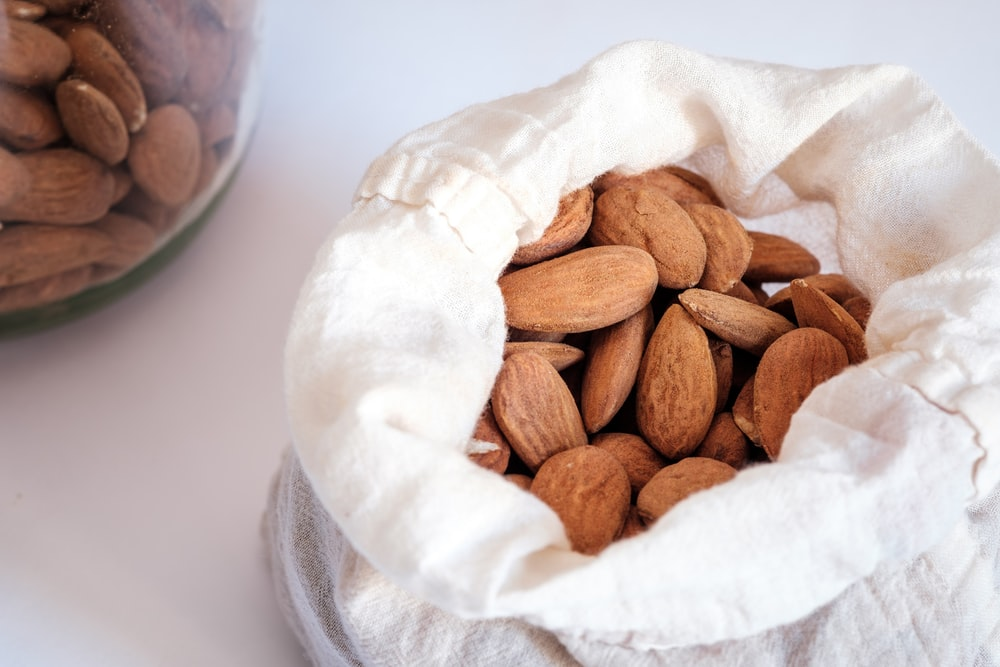 brown almond nuts