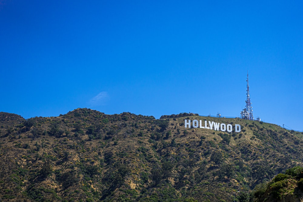 Hollywood sign at the hill during daytime