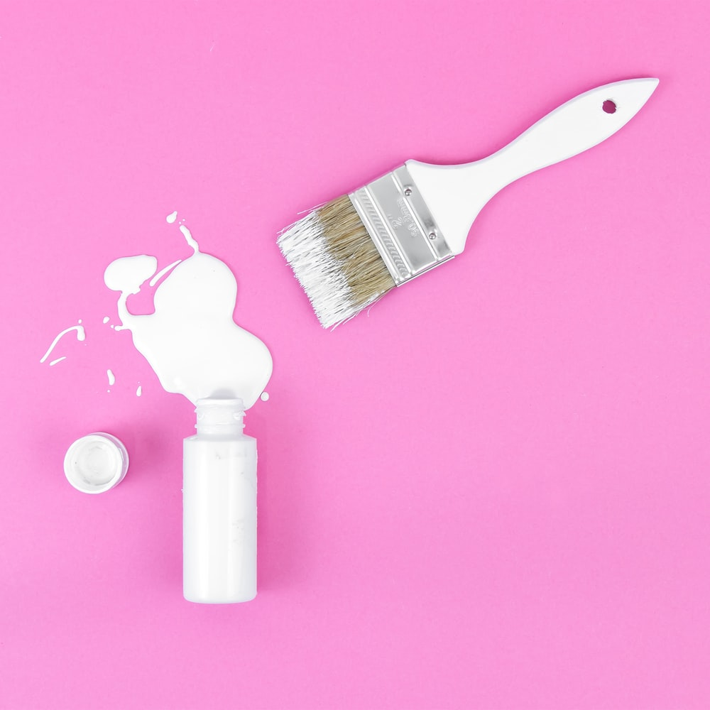 white paint brush