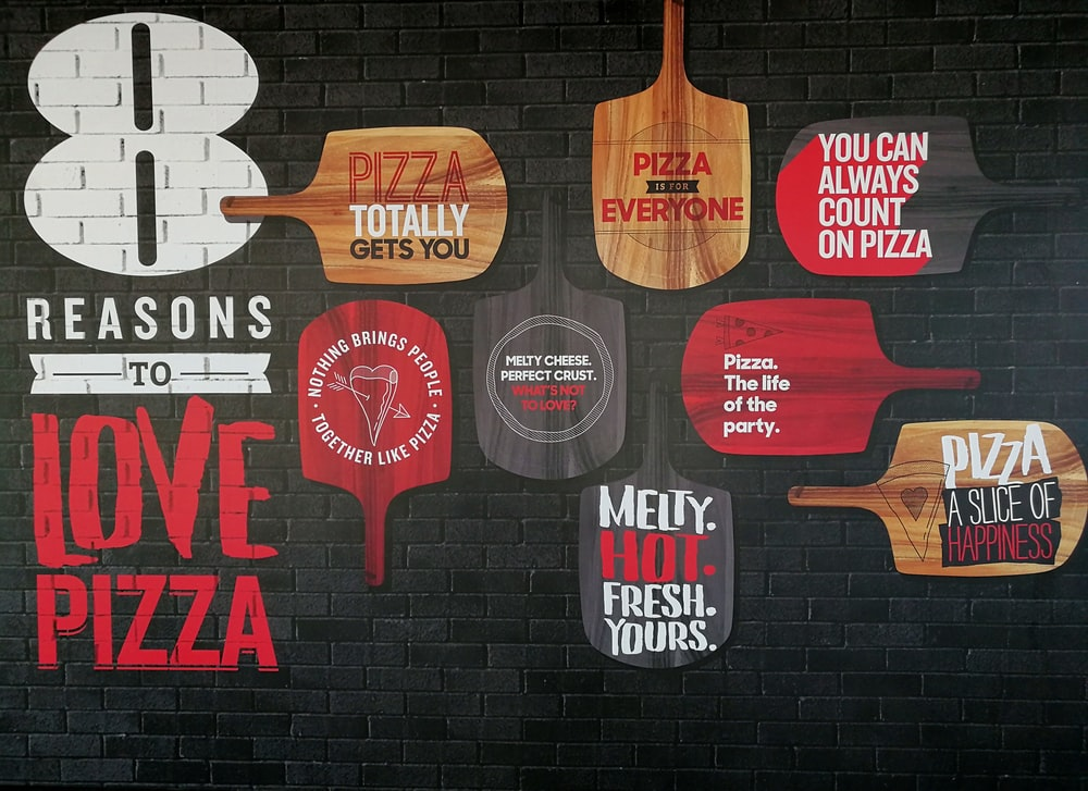 Pizza signage lot