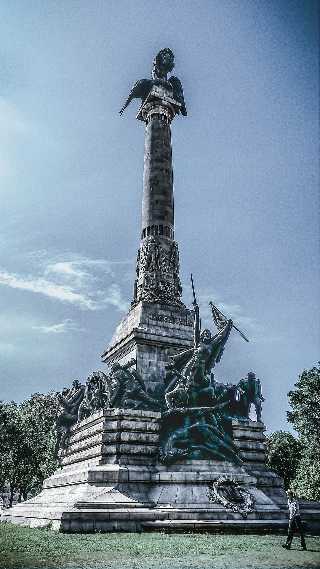 The monument stands 45 meters high.