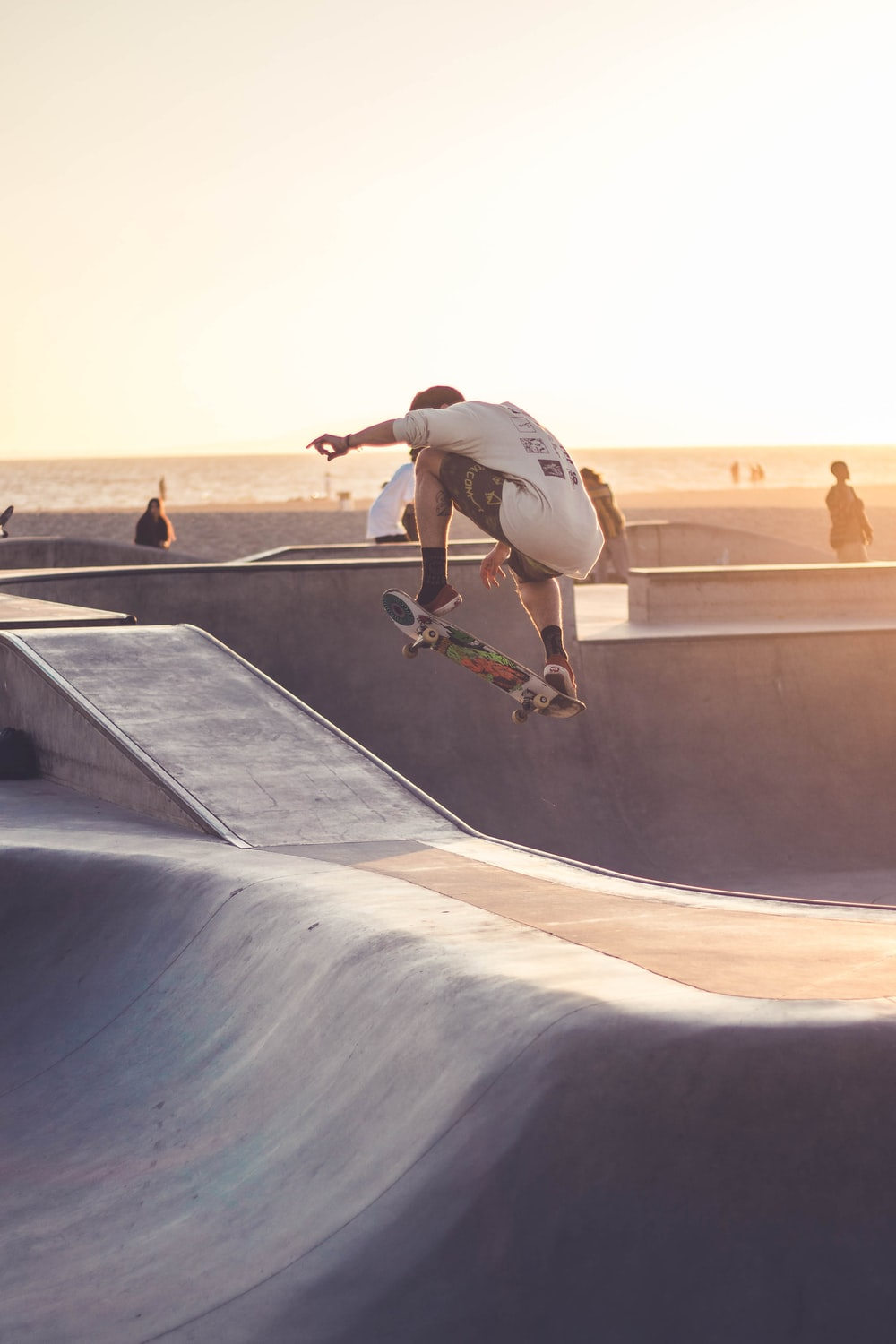 unknown person skateboarding outdoors