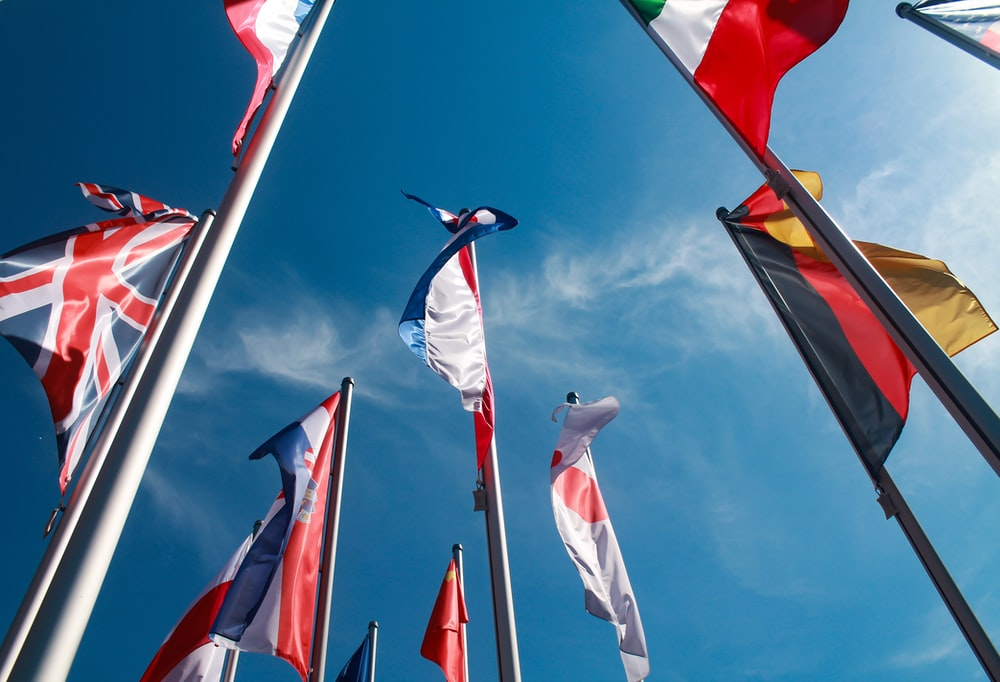 assorted national flags