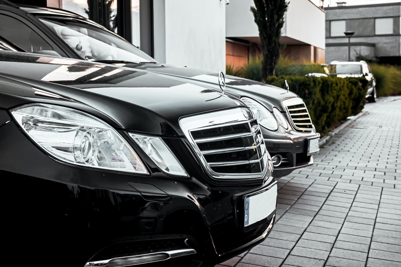two Mercedes-Benz vehicles