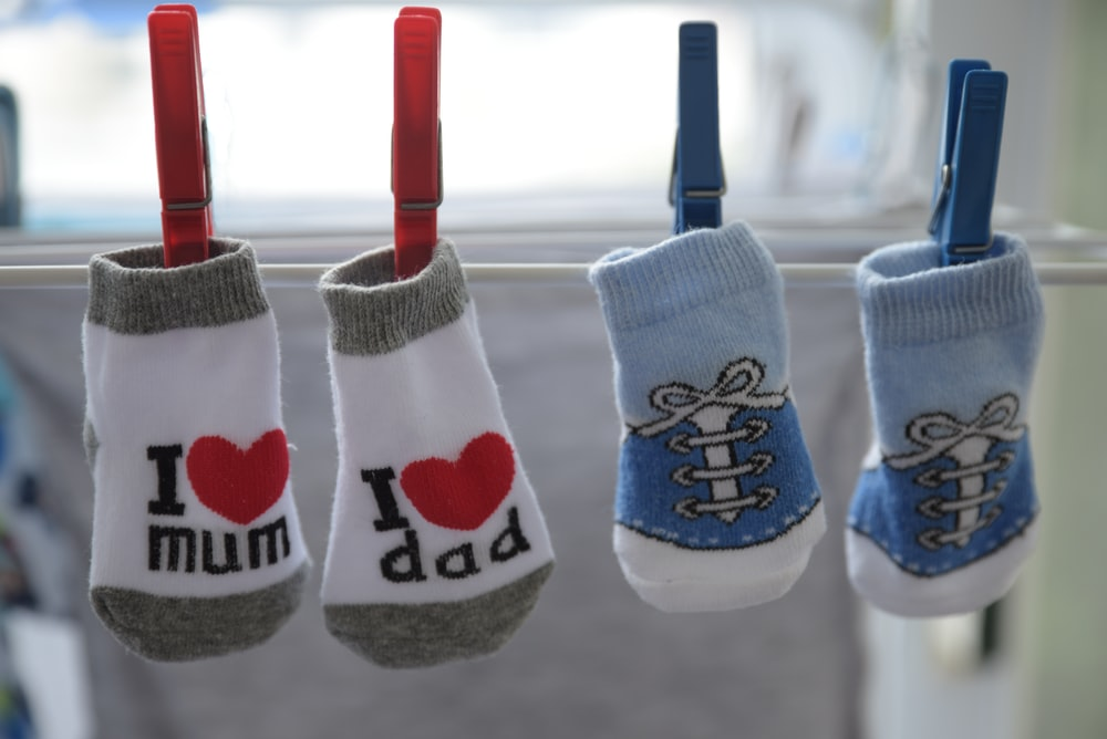 baby's two pairs of socks