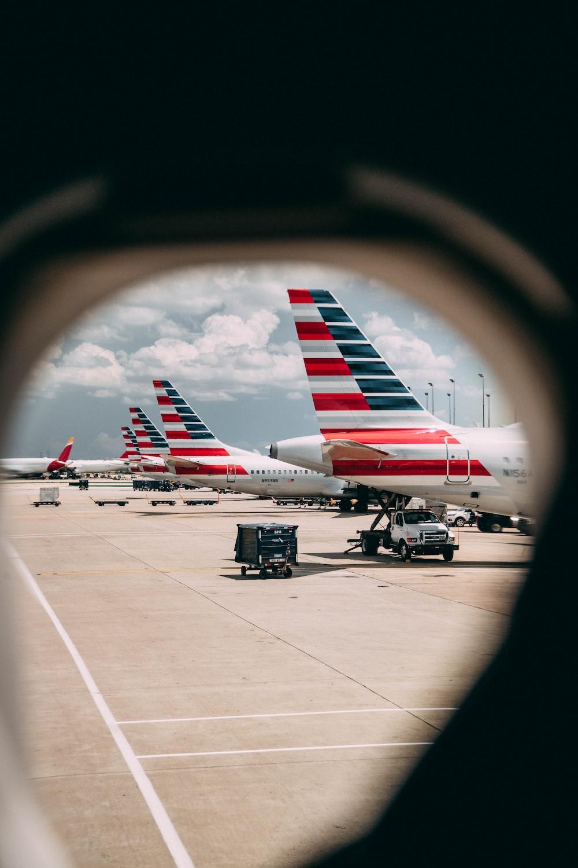 vehicles near airplane
