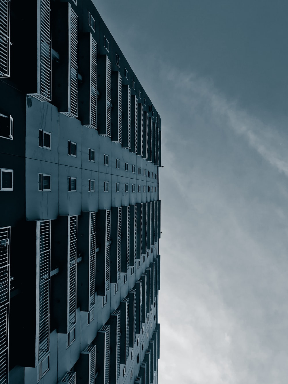 worm's eye view of a building