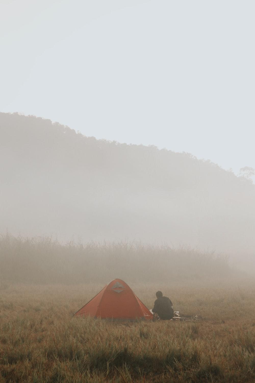 orange dome tent