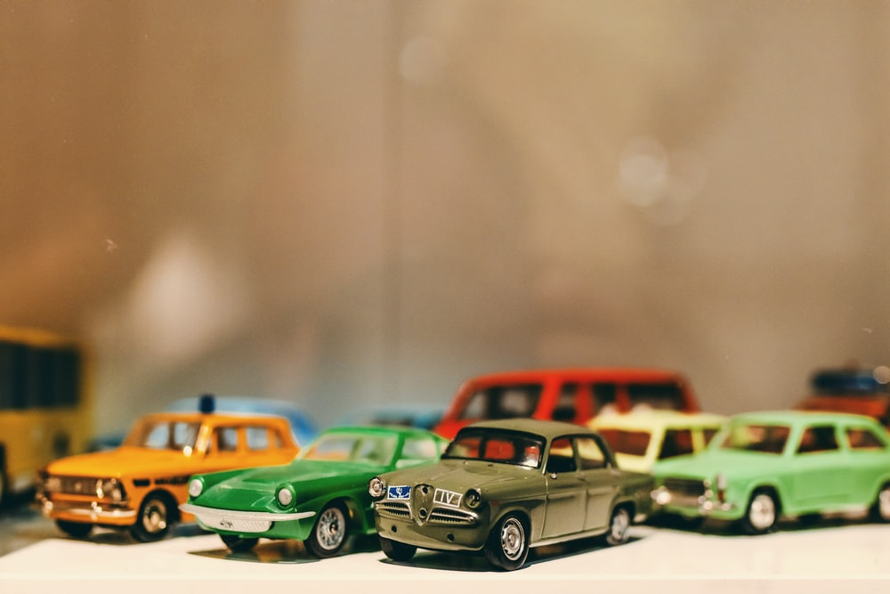 assorted-color die-cast metal scale model collection