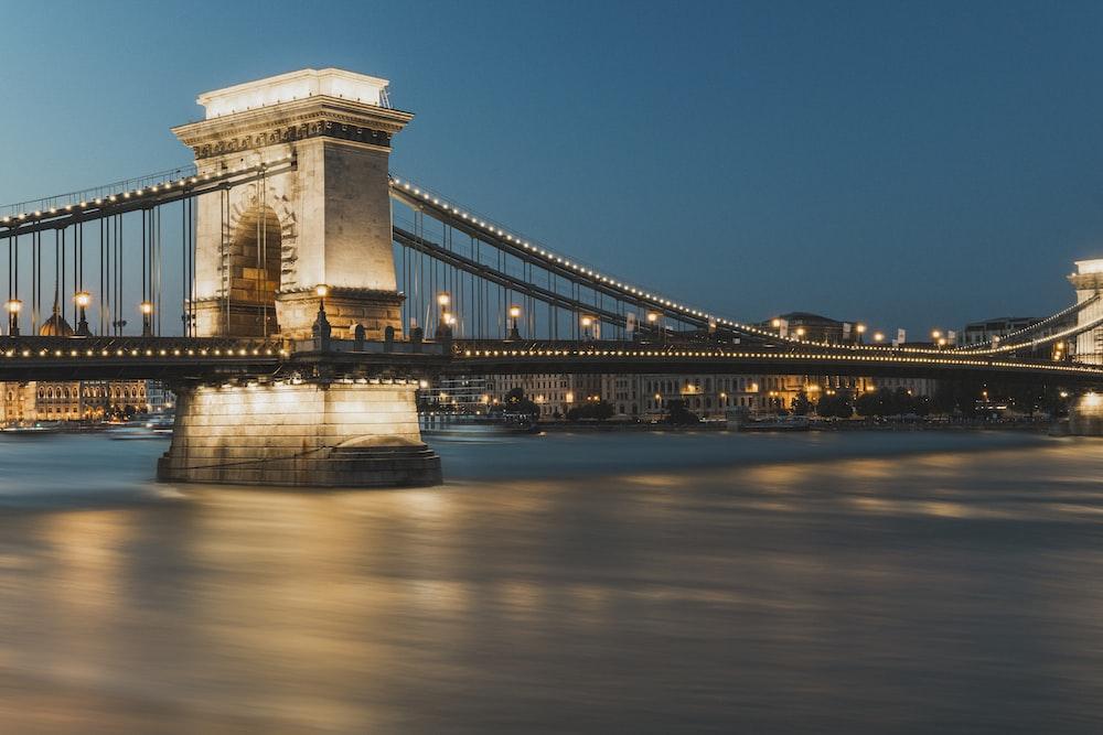 black and brown bridge