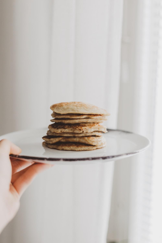 flatbread on white plate