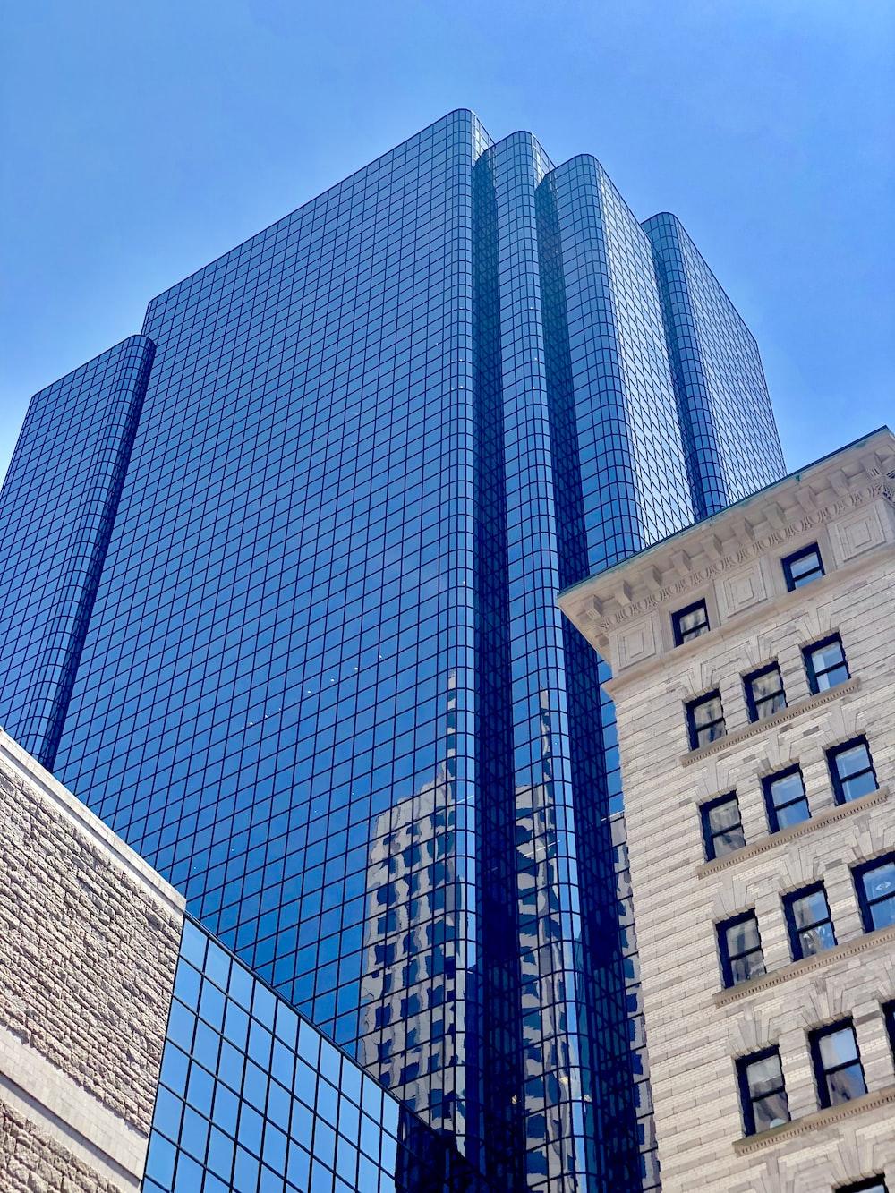 gray glass building