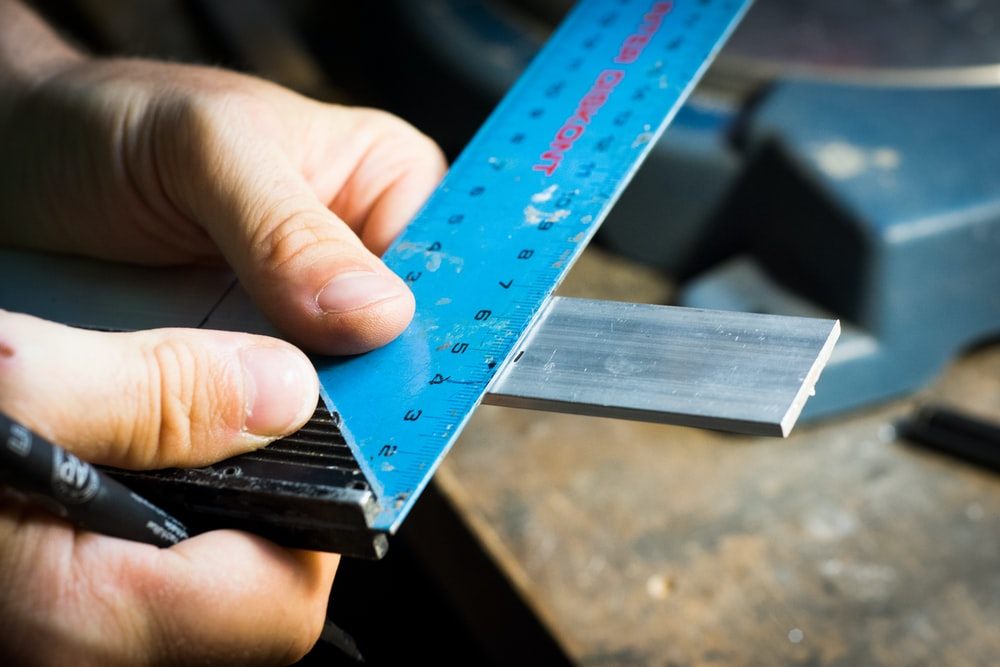 blue ruler