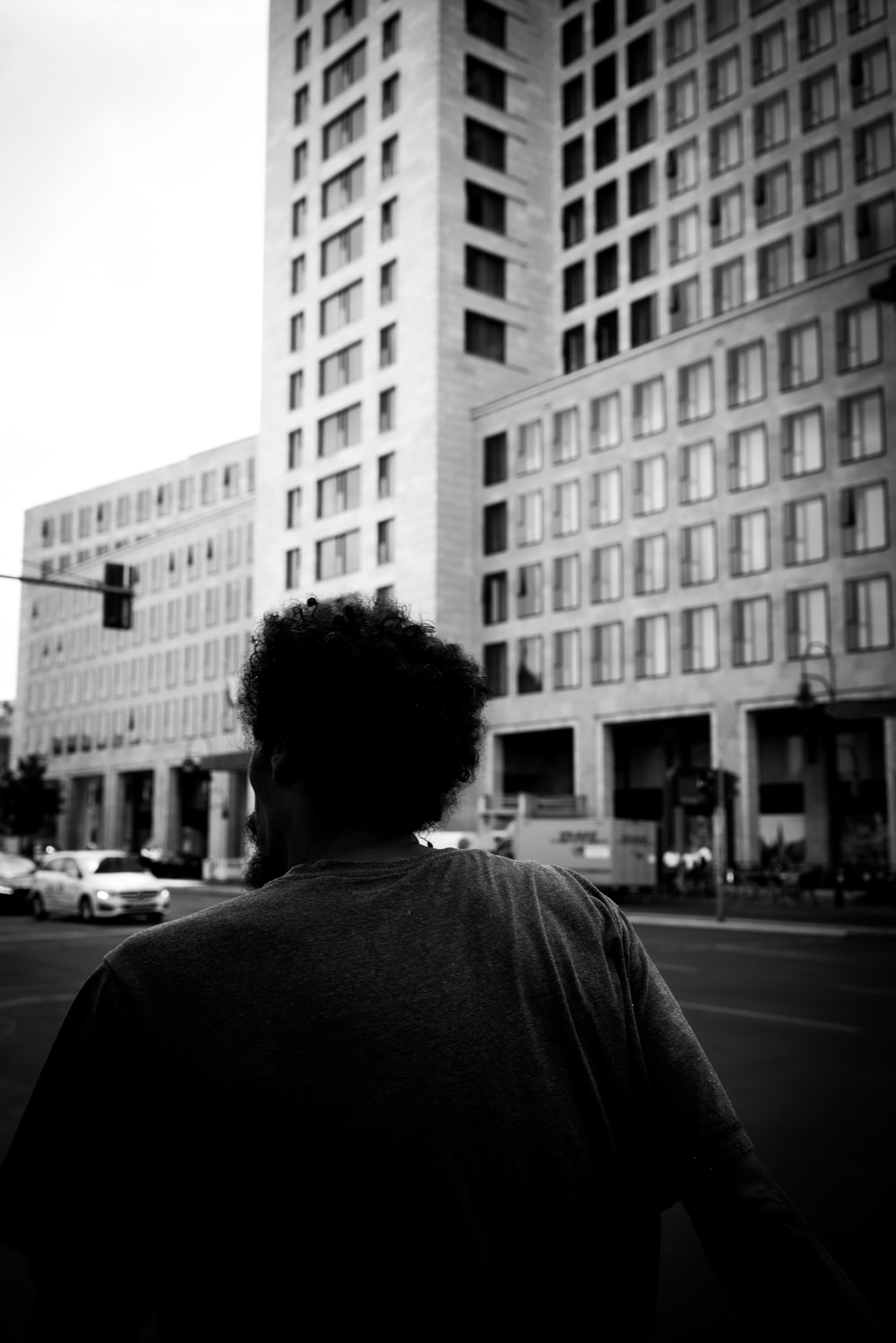 person near the building