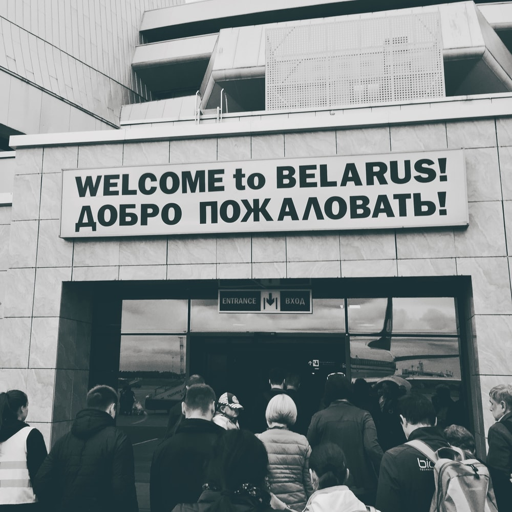 Welcome to Belarus! signage