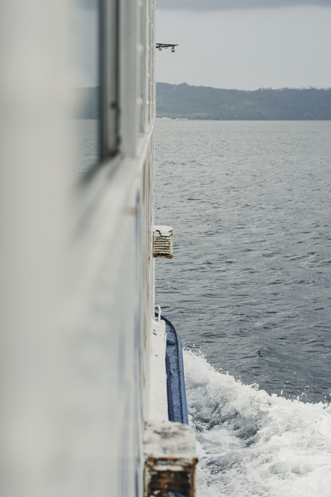As the bow wave spreads out, it defines the outer limits of a ship's wake. -Wikipedia-
