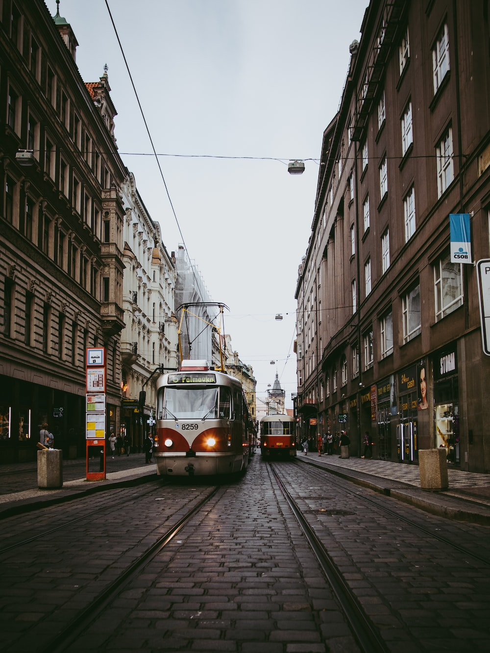 photography of traveling tram during daytime
