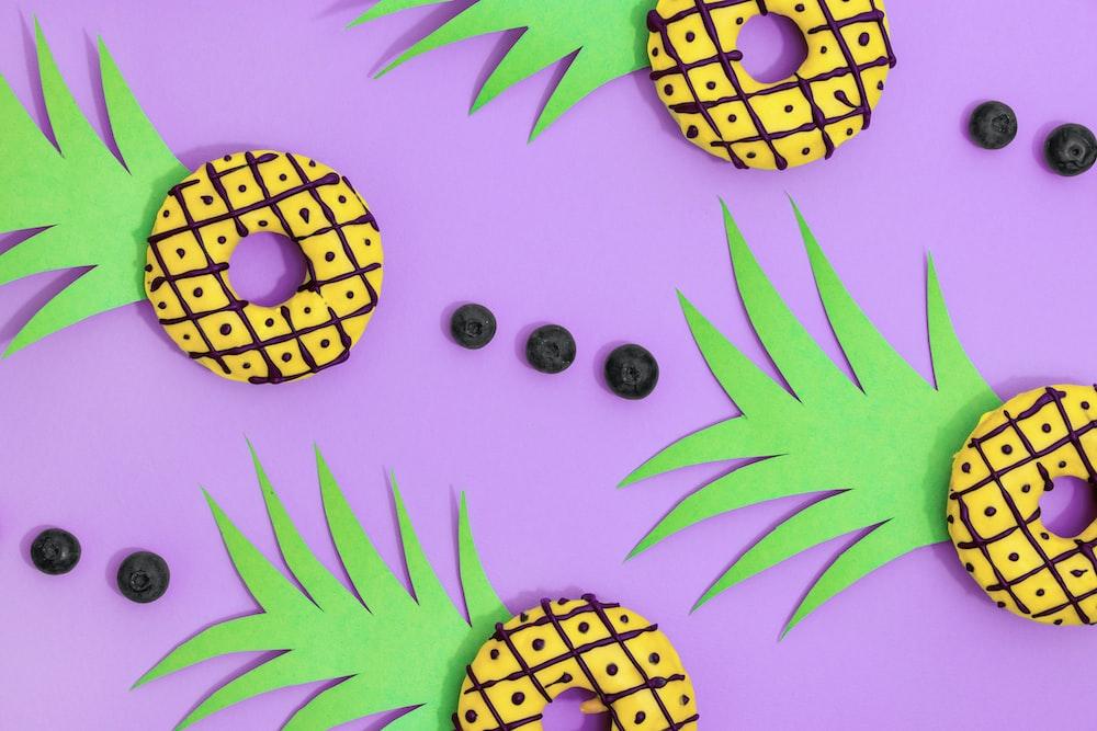 yellow pineapple donuts