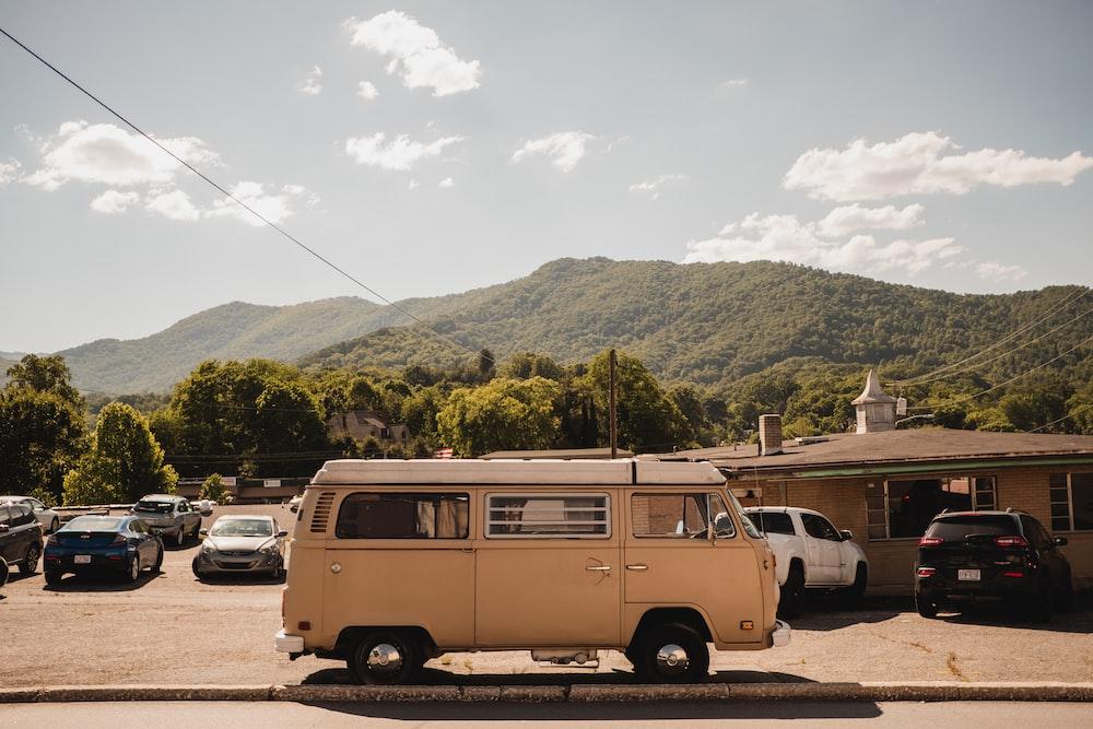 vintage brown van