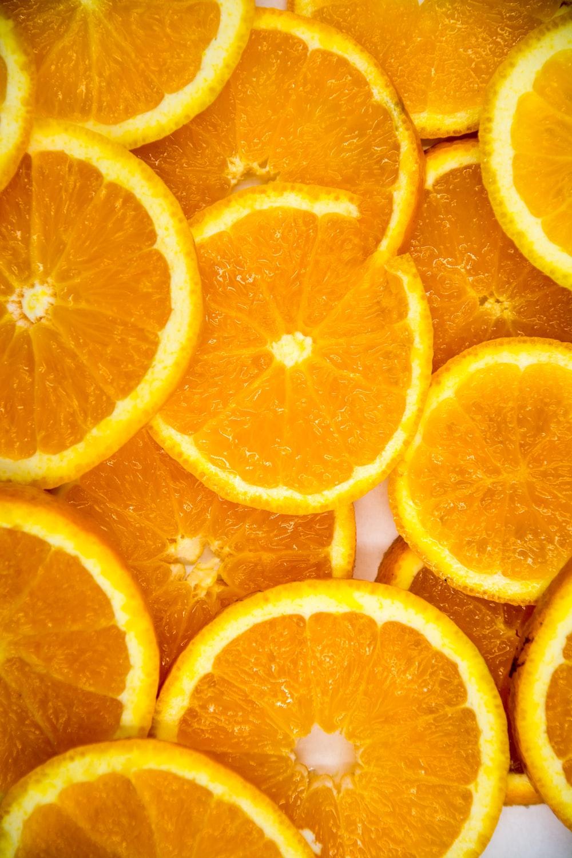 sliced of tangerine fruits