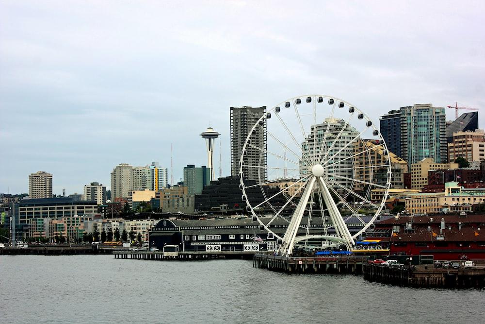 Ferris wheel on dock