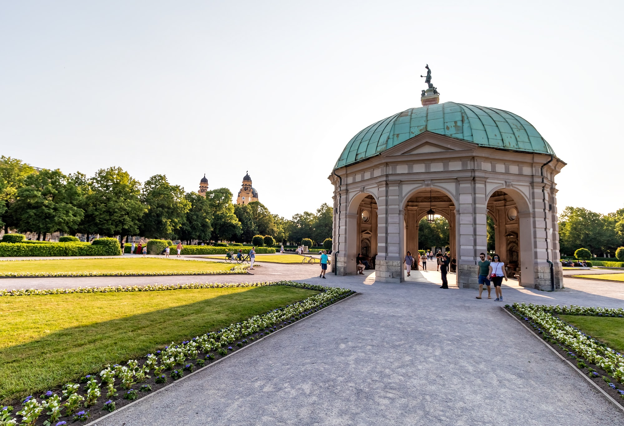 Horgarten - Court Garden - Diana Temple in Munich