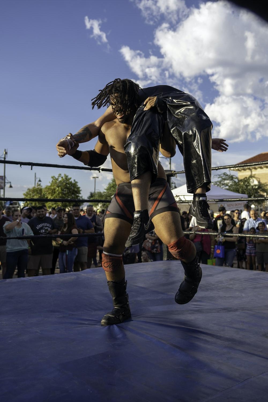 wrestler on ring